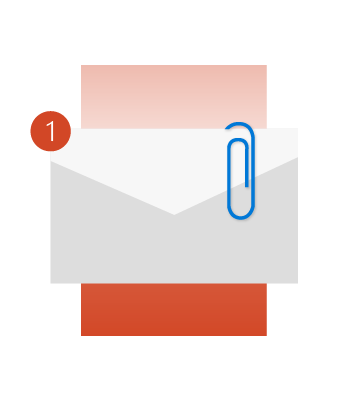 Outlook kan minde dig om at vedhæfte en fil.