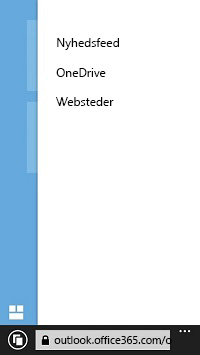 Liste over SharePoint-websteder på en mobilenhed