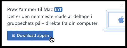 Produkt messaging til Mac