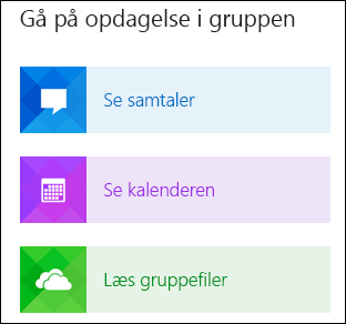 Udforsk en gruppe i Outlook