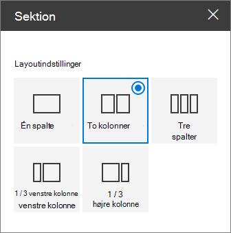 Sektionen layout rude