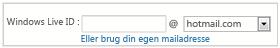 Tilmelding til OneDrive med hotmail- eller live-mailadresser
