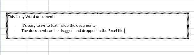 Dette integrerede objekt er et Word-dokument.