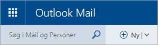 Et skærmbillede af øverste venstre hjørne af den klassiske postkasse i Outlook.com.