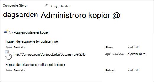 Klik på Rediger i vinduet Administrer filer