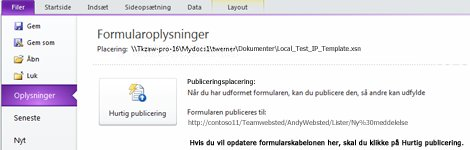 InfoPath-listeformularer for SharePoint