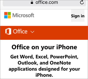 Gå til office.com