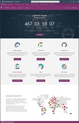 Websted for ny produktlancering
