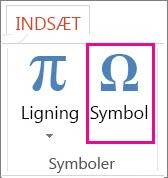 Indsæt et symbol