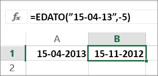 Trække måneder fra en dato