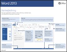 Startvejledning til Word 2013