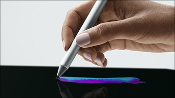Du kan tegne på Surface-skærmen