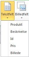 Indsæt tekstfelter i en katalogfletning