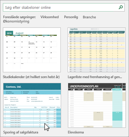 Excel-skabeloner
