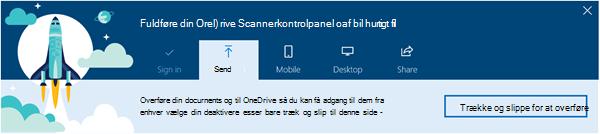 skærmbillede af de OneDrive automatiseret præsentation, der vises, når du først bruge OneDrive for Business i Office 365