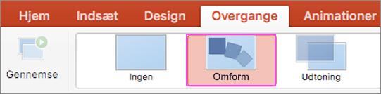Glidende PowerPoint-overgange med Omform.