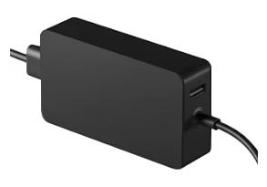 Strømforsyning til Surface Pro med en fastgjort strømledning