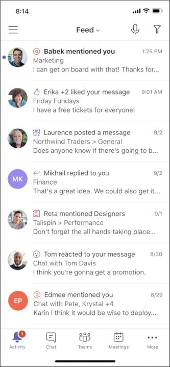 Cortana Mobile, gå til skærmen ulæste meddelelser
