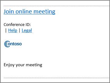 Sådan ser en brugerdefineret invitation ud uden grafik