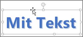 WordArt med en markør med fire pilespidser