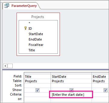 En enkel parameterforespørgsel.
