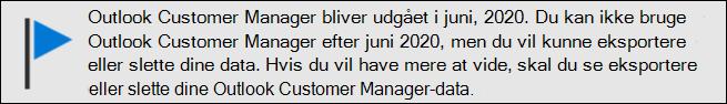 Outlook Customer Manager – afslutning af support i juni, 2020