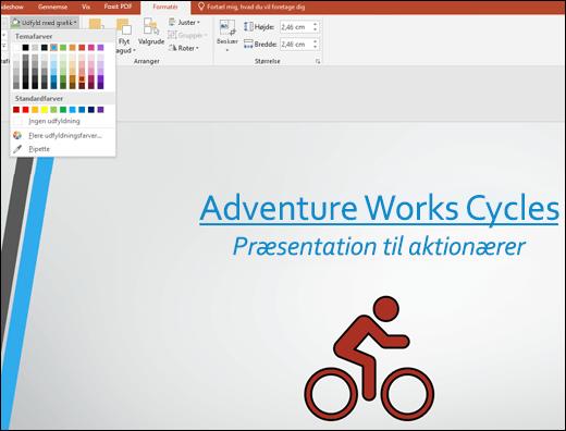 Brug værktøjet Grafikudfyldning til at ændre farven på dit SVG-billede