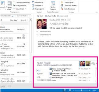 Outlook Social Connector, efter at den er udvidet