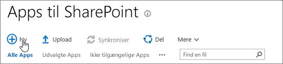 SPO Appkatalog for SharePoint med knappen Ny fremhævet
