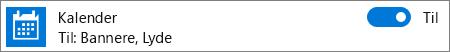 Deaktiver beskeder fra Kalender i Windows 10 via Systemindstillinger