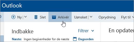 Et skærmbillede af knappen Arkivér