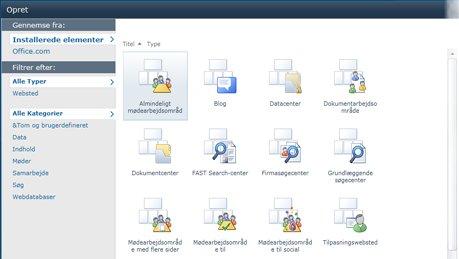 SharePoint-webstedskabeloner