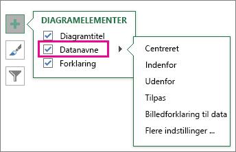 Diagramelementer > Datanavne > valgmuligheder for navne