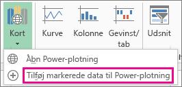 Tilføje valgte data til kommandoen Power-plotning