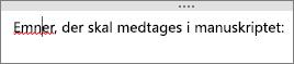 OneNote kontrollerer automatisk for potentielle stavefejl