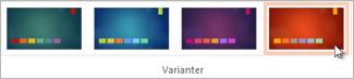 Vælg en variant