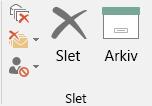 Arkivering med ét klik