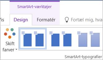 Knappen Skift farver under fanen SmartArt-værktøjer-Design