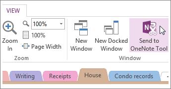 Administrer Hurtige noter med værktøjet Send til OneNote