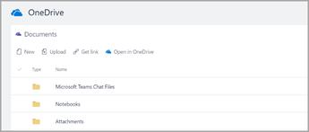 Åbn i OneDrive