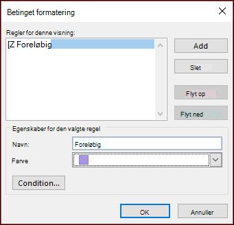 Du kan definere adskillige conditoinal formateringsregler.