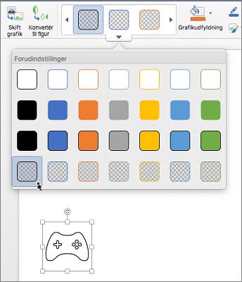 Redigerer det grafiske format af et ikon