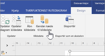 Tilknyt knappen Kildedata på båndet igen