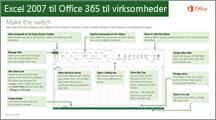 Miniaturebillede af vejledning til skift fra Excel 2007 til Office 365