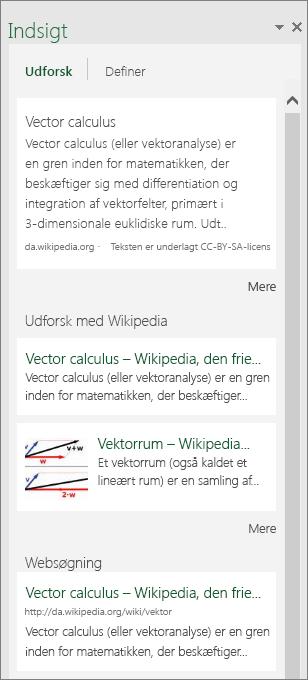 Ruden Indsigt i Excel 2016 til Windows