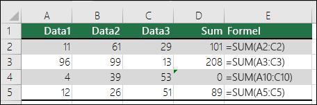 Excel viser en fejl, når en formel ikke stemmer overens med mønsteret for tilstødende formler