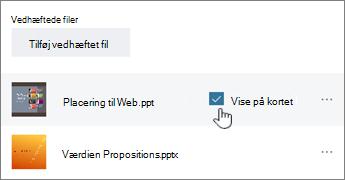 ClickShow på kort for at få vist et eksempel
