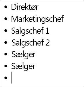 Føje navne til felterne i dit diagram