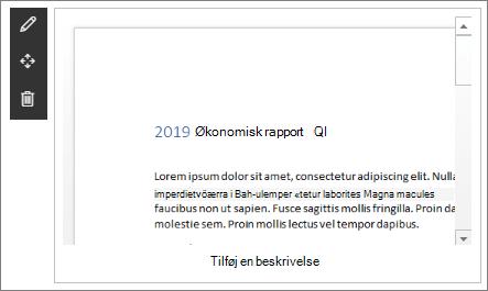 Webdelen fil visning i et eksempel på et moderne Enterprise-landings websted i SharePoint Online