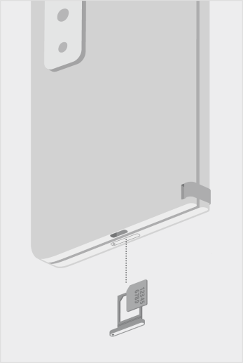 Surface Duo 2 SIM-kortbakke.